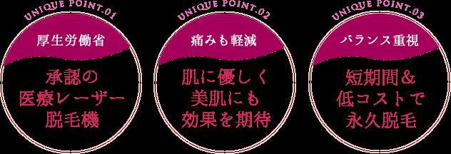 梅田で厚生労働省承認の医療レーザー脱毛機を使用