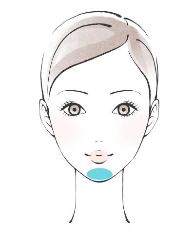 顎へヒアルロン酸を注入した女性