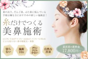 プライベートスキンクリニックの糸だけでつくる美鼻施術 Y-ko(ワイコ)、G-mesh(Gメッシュ)