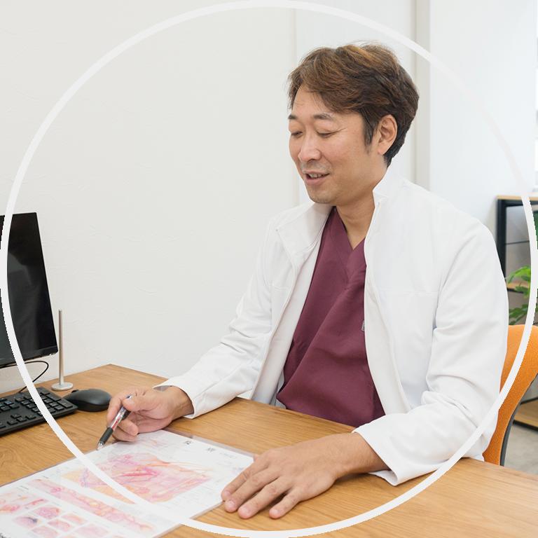 涙袋形成術、ヒアルロン酸注入による梅田美容クリニックPSCの涙袋の整形手術の流れ.1 カウンセリング