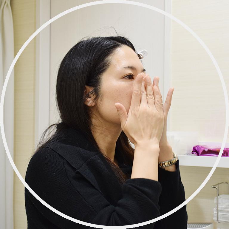 大阪梅田プライベートスキンクリニックの頬脂肪除去(バッカルファット除去)手術の流れ.6 アフターケア